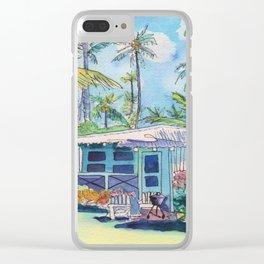 Kauai Blue Cottage 2 Clear iPhone Case