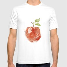 Apple 06 White MEDIUM Mens Fitted Tee