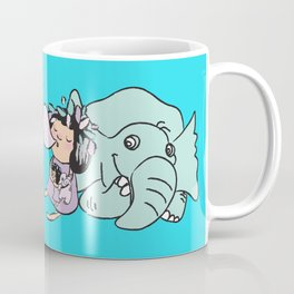 Lala's Adventure - A Smile is a curve that sets everything straight. Coffee Mug