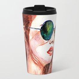 Attitude -watercolor portrait Travel Mug