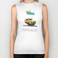taxi driver Biker Tanks featuring Taxi driver by Marta Colomer
