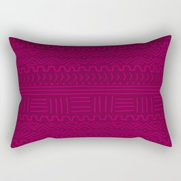 Mud Cloth in Raspberry Rectangular Pillow