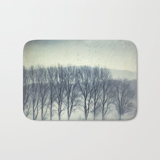 Trees in Mist Bath Mat