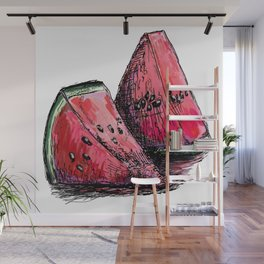red watermelon Wall Mural