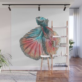 Dancing Betta Fish Wall Mural