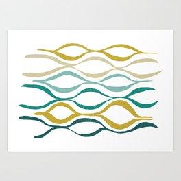 Catch the Wave (Jade) Art Print