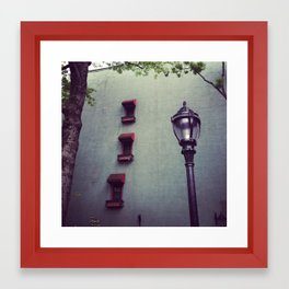Lamp Post on a Stormy Day Framed Art Print