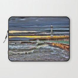 High tide at Seaburn Sunderland Laptop Sleeve