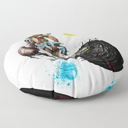 InkSans Floor Pillow