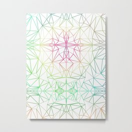 Tribal Low Poly Pastel Pattern Metal Print