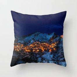 Castelmezzano Italy Throw Pillow