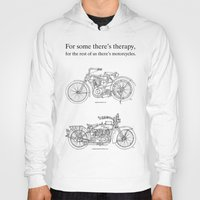 cafe racer Hoodies featuring NORTON COMMANDO 961 CAFE RACER. 2011 by Larsson Stevensem