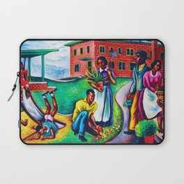"""African American Classical Masterpiece """"The Results of Good Housing"""" by Hale Woodruff Laptop Sleeve"""