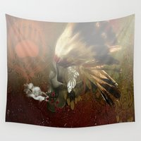 indian Wall Tapestries featuring indian by karens designs
