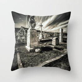 Great Orme Graveyard Throw Pillow