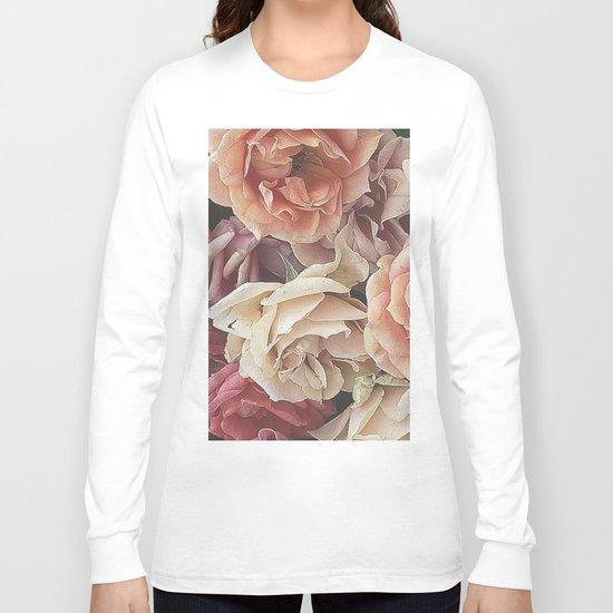 Great Garden Roses,peach Long Sleeve T-shirt