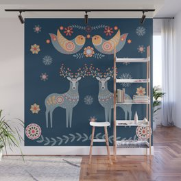 Nordic Winter Blue Wall Mural