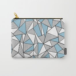 Abstraction Lines Sky Blue Carry-All Pouch