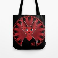 sphynx Tote Bags featuring Sphynx! by Visually Odd