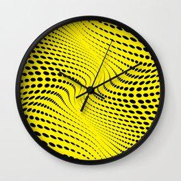 THE RIVER YELLOW-BLACK Wall Clock