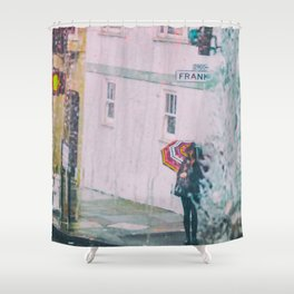 Psychedelic Rains Shower Curtain