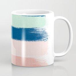 Stripes painterly pastel trendy color way modern home decor dorm nursery style Coffee Mug