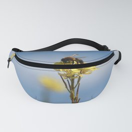 Honey bee on a wildflower Fanny Pack