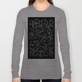 Cube Skeletons In Space Long Sleeve T-shirt