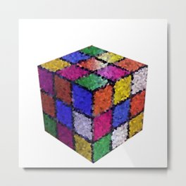 The color cube Metal Print
