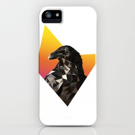 Low Poly Raven iPhone Case