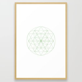 #129 Abloom – Geometry Daily Framed Art Print
