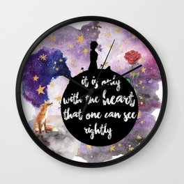 Little Prince With the Heart Wall Clock