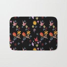 Dark Floral Garden Bath Mat