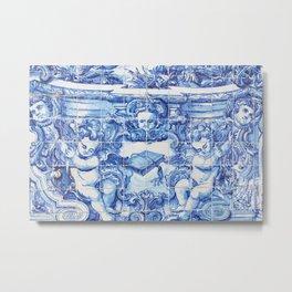 Ángeles Azules Metal Print