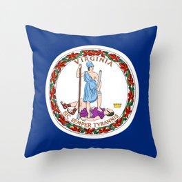 Flag of Virginia Throw Pillow