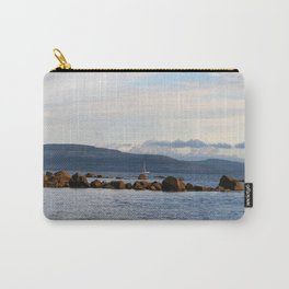 Sail Away On Galway Bay - Ireland Ocean Landscape - Blue Carry-All Pouch