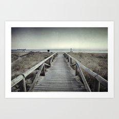 The beach....... Art Print