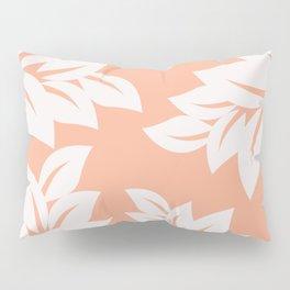tropical coral leaves Pillow Sham