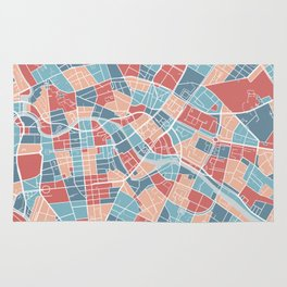 Berlin map, Germany Rug