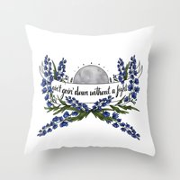 wolves Throw Pillows featuring wolves by girlwiththetea