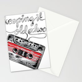 Keeping it old school boombox tape 80s music shirt Stationery Cards