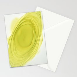 Green Swirl Composition Stationery Cards