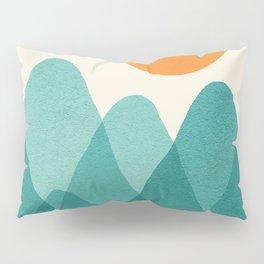 Abstraction_Mountains_SUNSET_Landscape_Minimalism_003 Pillow Sham