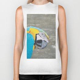 Oscar the Macaw Parrot Biker Tank