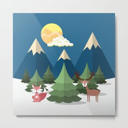 Christmas Trees Metal Print