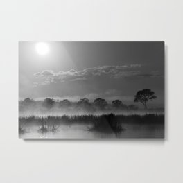 Old Autumn in the Misty Morn Metal Print