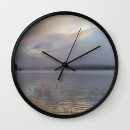 Phantasmagorical Fog on the Lake Wall Clock