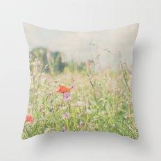 wild flowers ... Throw Pillow