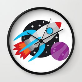 The Last Rocket Launching Wall Clock