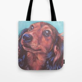 The long haired Dachshund from an original painting by L.A.Shepard Tote Bag